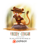 Day 1429. Freddy Cougar by Cryptid-Creations