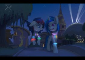 Commission - After party Canterlot by Raikoh-illust
