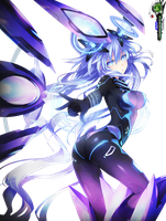 Neptunia Purple Heart Mega AWESOME Godness VII PNG by OtakuRenders-Service