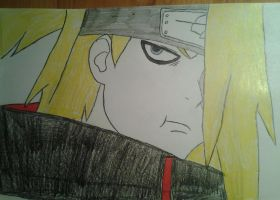 Deidara is not amused by MonsterGaara