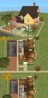 Sims 2 Download - UP House by kanzeNatsume