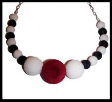 Red ball - Necklace by Amelia-art