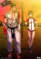 Ryu and Sakura by GGG85