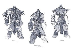 Darksiders II armour concepts Wanderer by DawidFrederik