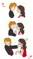 Ron and Hermione by angel-smw
