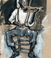 Playing the blues by Howleglass