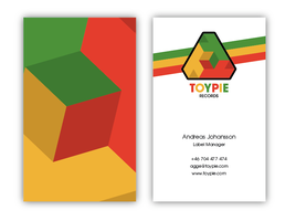 Business card - Toypie Records by h3nque