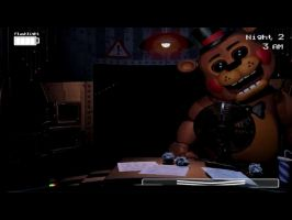 New Freddy in the office by kinginbros2011
