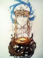 Hourglass Tattoo Design by cerealkira