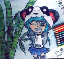 .:Request:. Pam the Panda Girl by lilcutestarz