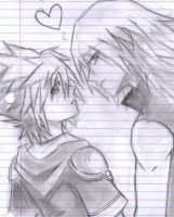 SORA AND RIKU by Jadethefirefox