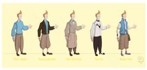 Tintin designs by Phil-Crash-Murphy