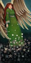 Angel with stars by P0UL