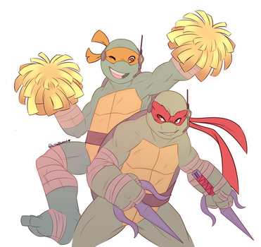 Mutants In Manhattan: Mike and Raph by Shellsweet