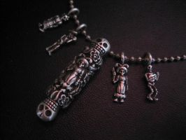 Day of the dead necklace by flintlockprivateer