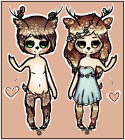Fawn Twins Auction: CLOSED by claire-face