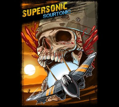 Supersonic Sourtonic Label Illustration by MrG00