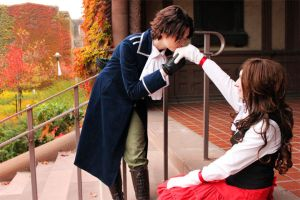 APH - A kiss on the hand by HoneydewLoveCosplay