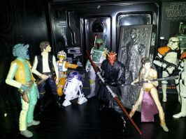 Six inch Star Wars Figures by ayelid