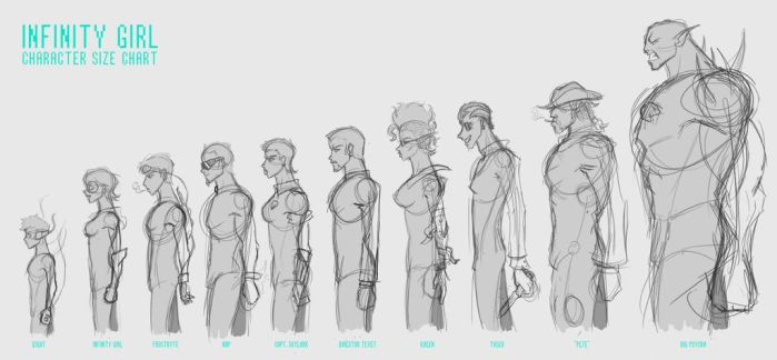 Infinity Girl: Character Size Reference by GiantBrobot