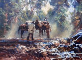 'Final Check' - Oil on Canvas by Robert Hagan by robert-hagan