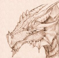 Dragon Sketch by onelover