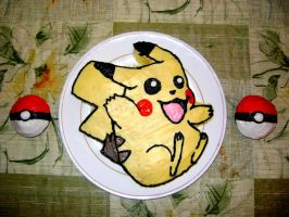 Pikachu Cake by BlondeClutz19