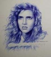 Ashley Laurence (ballpoint on paper) by signedportraits