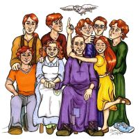 Weasley Family Portrait by VanishingShmink