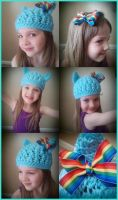 Rainbow Dash Crochet Hat! by CharmingLittleFox