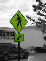 Walk This Way (Color Splashed) by SnapShot120