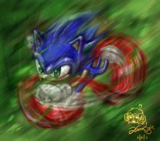 the Blue Blur by Ajax098