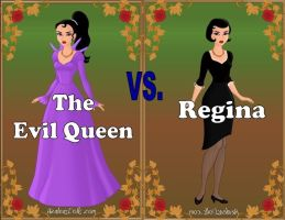 Evil Queen vs Regina (Revised) by Sunshine-Girl524