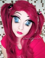Anime Doll Makeup Crazy Look by cherrybomb-81