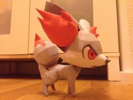 Shiny Fennekin Papercraft by giden445