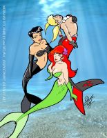 Mermaid Selina, Harley and Ivy by Inspector97