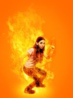 flame girl by eulock