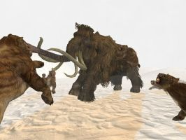 Epic Ice Age Battle (Saberteeth vs. Mammoth) by Nictrain123