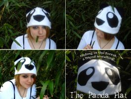 Forest Friend - The Panda Hat by silver-raindrops