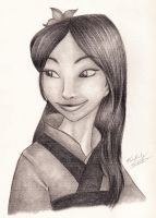 Disney: Mulan portrait by kimberly-castello