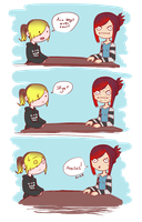 + We are both mature ladies, I swear + by sonxfanchara