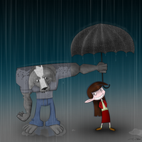 Boomer and Valerie in the Rain by reed682