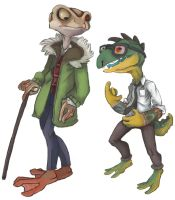DRS HERMANN FROGGLIEB AND NEWT GEISZLER by sharkstew