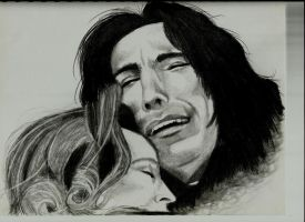 Snape and Lily by dunkinmunkin