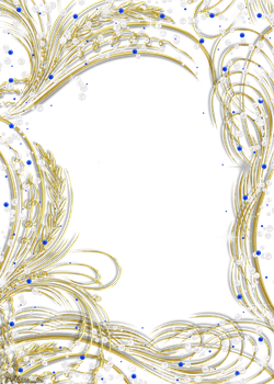 golden frame with gems and pearls png by Melissa-tm