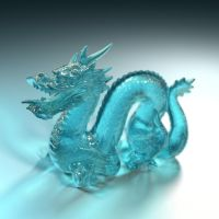 Bryce 7.1 Pro - Advanced Glass Stanford Dragon tut by davidbrinnen