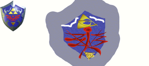 Project Abstract Hyrule 161: OoT Hylian Shield by scriptureofthescribe