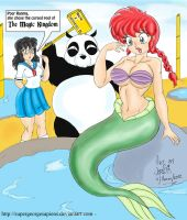 Little Mermaid Ranma-Chan Color by Kimbawest