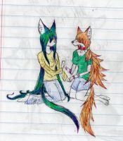 Maxinne and Lucy by Kinarei