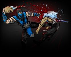 Sub-Zero vs Baraka by AIBryce